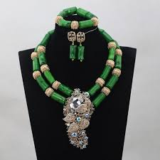 african jewelry necklace set images Coral beaded african necklace set yafeu cultural fashion jpg