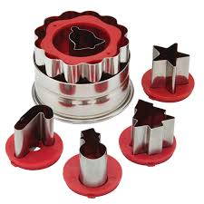 Christmas Cake Decorations Set by Cake Boss Decorating Tools Holiday Linzer Cookie Cutter Set