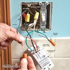 Bathroom Fan Timer And Light Switch Installing Bathroom Exhaust Fan Timer Thedancingparent