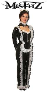 pvc hobble strait jacket maids dress