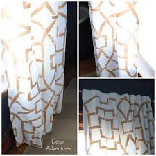 Gold And White Curtains Diy Stenciled Curtains Decor Adventures