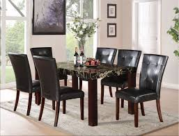 Acme Furniture Dining Room Set Faux Marble Top Dining Table Set Dining Room Terrific Marble