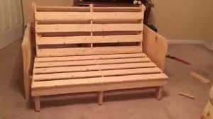 homemade futon bed frame youtube