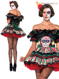 Halloween Costume Sale Uk Day Of The Dead Doll Plus Size Halloween Fancy Dress Costume