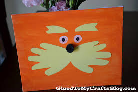 dr seuss inspired lorax canvas kid craft glued to my crafts