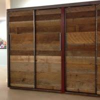 Sliding Closet Doors Wood Rena Gary S Handcrafted Reclaimed Apartment Sliding Door
