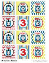 image result for free printable thomas the train cup cake toppers