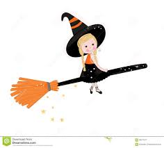 free cute halloween background cute witch happy halloween background stock vector image 58571677
