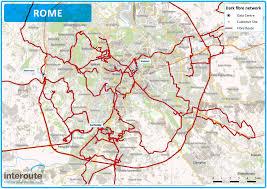 Rome World Map by Rome Dark Fibre Network Map U0026 Routes Interoute