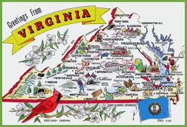 Map Of Marion Ohio by Pictorial Travel Map Of Virginia