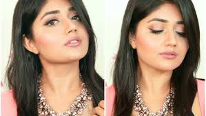 glossy pink makeup tutorial for indian skin clista