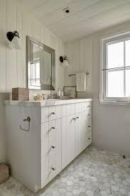 Rustic Bathroom Walls - white paneled bathroom vanity country bathroom john hummel