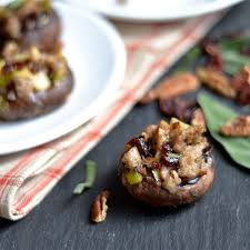 sausage and cranberry stuffed mushrooms with wholesomelicious