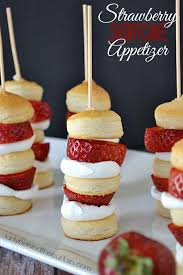 cuisine appetizer strawberry shortcake appetizer kabobs
