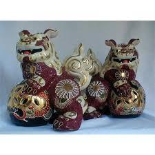 kutani shishi foo lions pair japan 2275175