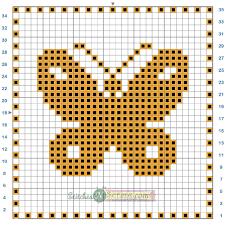 free pattern filet crochet butterfly motif chart stitches u0027n