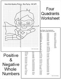 graphing superhero mystery pictures first quadrant u0026 four quadrants