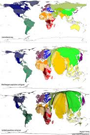 cartogram map worldmapper the as you ve never seen it before