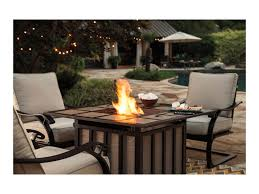 Garden Table And Chairs With Fire Pit Signature Design By Ashley Wandon Outdoor 5 Piece Fire Pit Table
