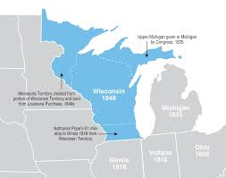 Map Of Wisconsin And Michigan by Wisconsin Could Have Been Much Bigger 1200x942 Mapporn