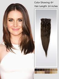 14 inch chestnut brown human hair extension 95g uss614 vpfashion