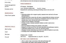 Call Center Supervisor Resume Example by Resume Cover Letter Call Center Supervisor Resume Sample Call