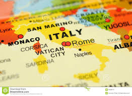 Where Is Italy On The World Map by Italy On Map Stock Photos Image 6838513