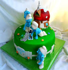 the smurfs cake smurfs cakes pinterest cake children cake