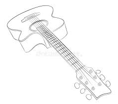 guitar sketch stock vector image of variety vector 91793905