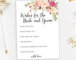 Advice To Bride And Groom Cards Wedding Advice Cards Pdf Etsy