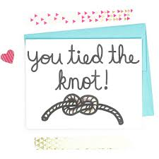funny wedding card you tied the knot wedding shower card