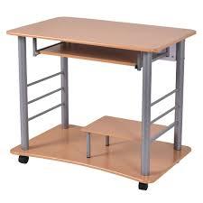 Rolling Table Desk Rolling Computer Desk Pc Table Workstation Desks Office