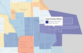 Downtown Chicago Map Many Of Chicago U0027s Neighborhoods Have A High Risk Of Exposure To