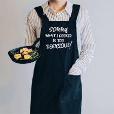 tablier de cuisine homme personnalisé toile de coton cuisine tablier l humour américain drôle imprimé