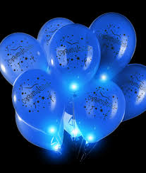 Blinky Lights Led 14 Inch Blinky Balloons Congratulations Blue Fun Central