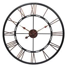 Oversized Clocks by Infinity Instruments Metal Fusion Wall Clock Walmart Com