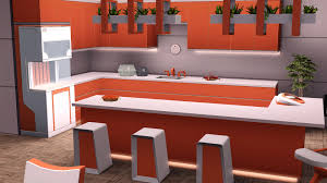 Orange Kitchens by Fresh Orange Kitchen Recolor The Sims 3 Into The Future The