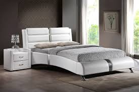g13500 azure white or black queen platform bed