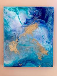 Seeking Painting Seeking Serenity Blues Fluid Painting Touch Of