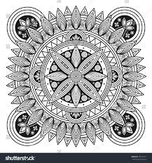 hindu mandala pattern coloring book pages stock vector 504571411
