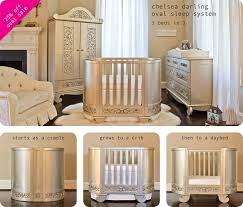 Designer Convertible Cribs Chelsea In Silver Baby Crib Designer Nursery Luxury