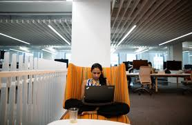 more new york companies experiment with innovative office space wsj