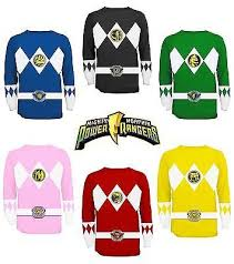 power rangers long sleeve costume shirt power rangers