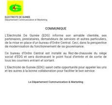 bureau d ordre électricité edg met en place un bureau d ordre central communiqué