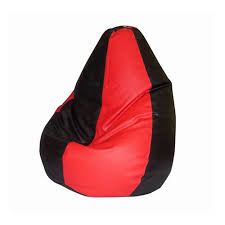buy xl red black bean bag with beans at best price