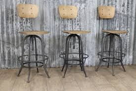 Industrial Bar Stool With Back Premier Industrial Barstool With Back