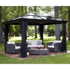 Patio Gazebos For Sale by 10 X Gazebo Metal Steel Roof Outdoor Patio Pergola Canopy Tent