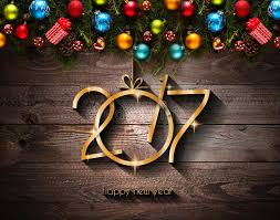 new year stuff 2017 happy new year seasonal background with christmas baubles stock