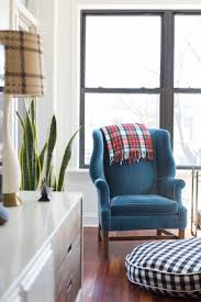 Blue Velvet Wingback Chair A Guide To Decorating As A Couple The Everygirl
