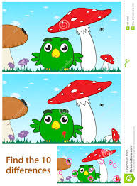 kids spot the difference puzzle with a little bird stock vector